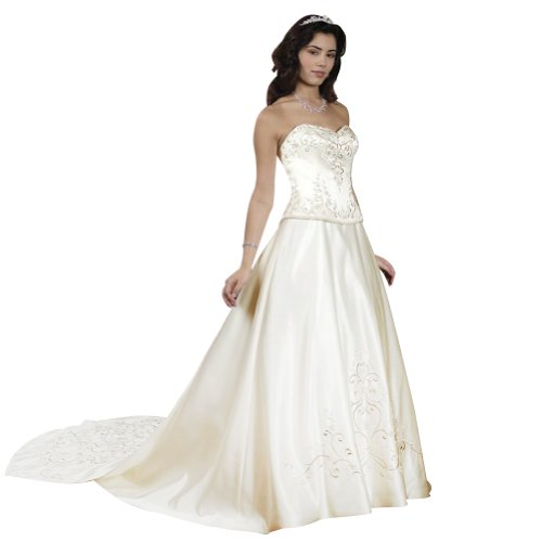 george bride trendy strapless satin wedding dress size 16