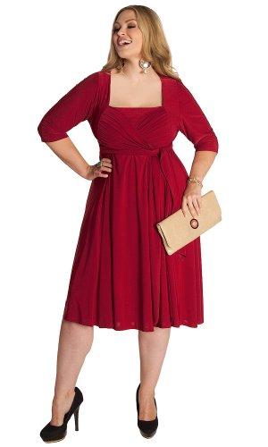 IGIGI by Yuliya Raquel Plus Size Ninelle Dress in Crimson 14/16 ...
