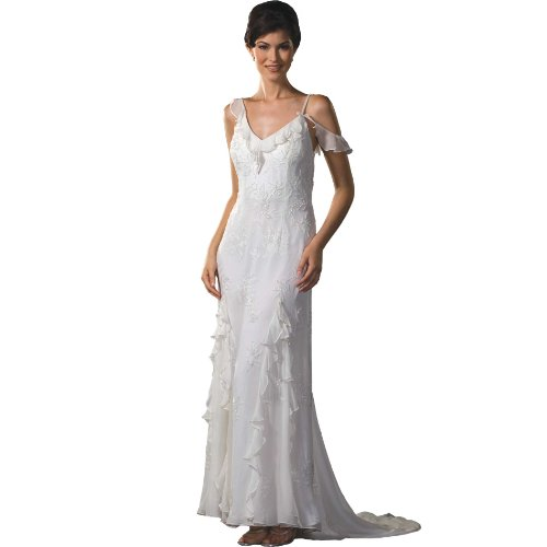 Ivory dress formal evening gown informal bridal gown for Ivory casual wedding dresses
