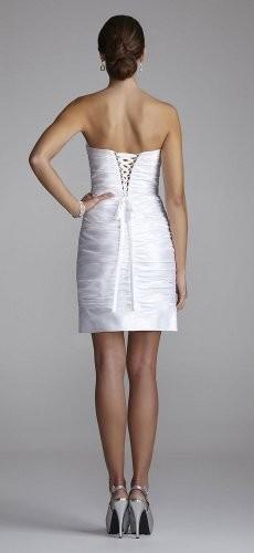 Strapless Taffeta Beaded Sheath Dress