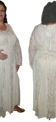 Feminine Lace Dress By BBW Boutique in Ivory - Size 2X picture 01