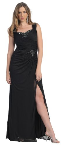 Mother of the Bride Formal Evening Dress #843 (5XL, Black) picture 001