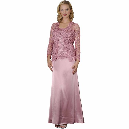 Rose Crochet Formal Evening Dress and Jacket – Mother of Bride ...