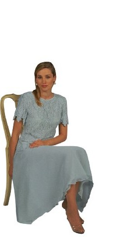 The Evening Store Light Blue Tea length mother of the bride(Extra Large) photo 1