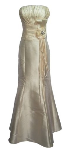 Alivila.Y Fashion Satin Mermaid Mother of The Bride Dress Formal Gown 9005-Cream-12 picture 001