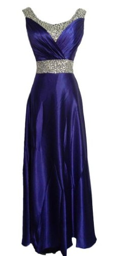 Alivila.Y Fashion Satin Sequins Mother of The Bride Dress Formal Gown Evening Dress 9090-Purple-6 photo 01