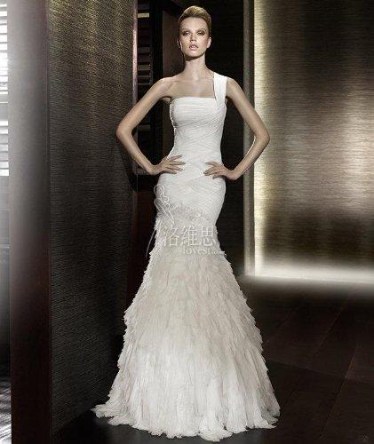 Wedding dress strapless taffeta mermaid gown w oversized for Taffeta mermaid wedding dress