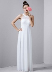 David's Bridal Wedding Dress Beaded Halter Dress with Sequin and Stone Neckline Style JH1M4428, White, 12 picture 001