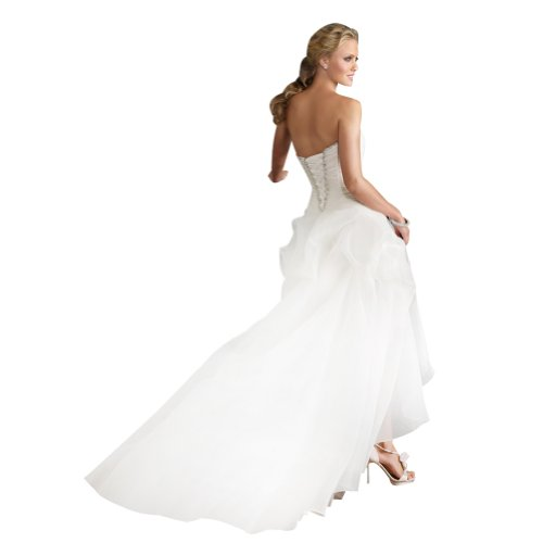 george bride strapless highlow satin wedding dress size 8