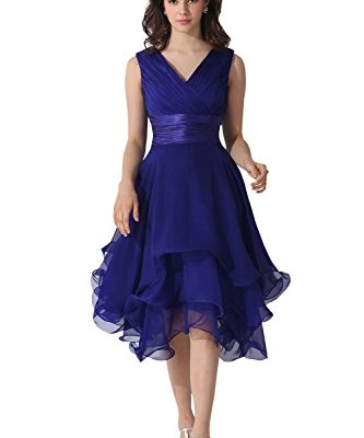 Dora Bridal V-Neck Chiffon Mother Of The Bride Dresses Watermelon image 01
