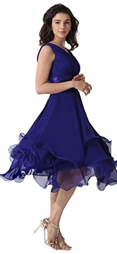 Dora Bridal V-Neck Chiffon Mother Of The Bride Dresses Watermelon photo 003