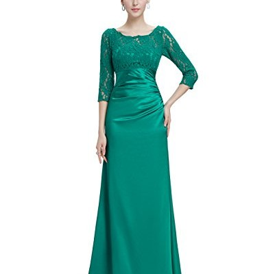 Ever Pretty Womens Floor Length Conservative Long Sleeve Prom Dress 12 US Emerald image 1