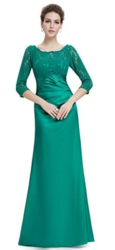 Ever Pretty Womens Floor Length Conservative Long Sleeve Prom Dress 12 US Emerald photo 04