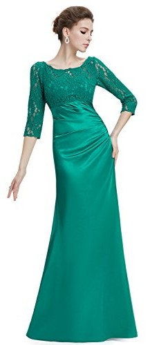 Ever Pretty Womens Floor Length Conservative Long Sleeve Prom Dress 12 US Emerald picture 005