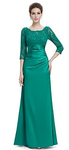 Ever Pretty Womens Floor Length Conservative Long Sleeve Prom Dress 12 US Emerald picture 007