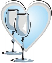 Wine Glass And Heart