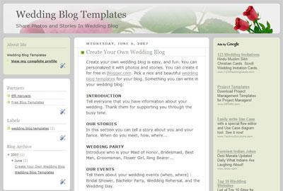 Wedding Blog Templates