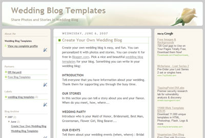 wedding blog template