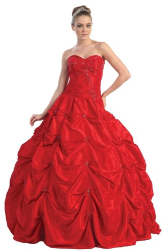 ca7c829a4a9 Ball Gown Strapless Formal Prom Wedding Dress  746 (16