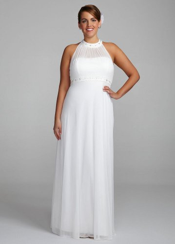 Item Page Detail Visit David S Bridal Wedding Dress Beaded Halter With Sequin And Stone Neckline Style Jh1m4428 White 12 For Hot Deal